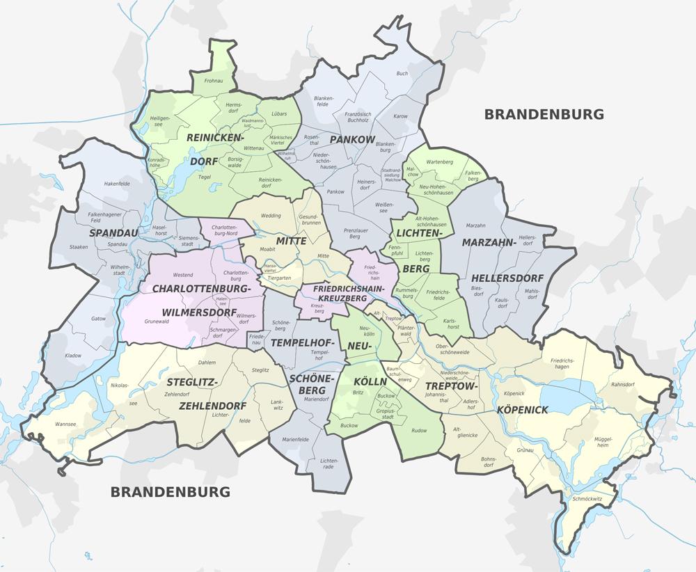 Schlüsselnotdienst  in Bezirken Berlins